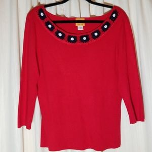Ruby Rd° Red Knit Sweater